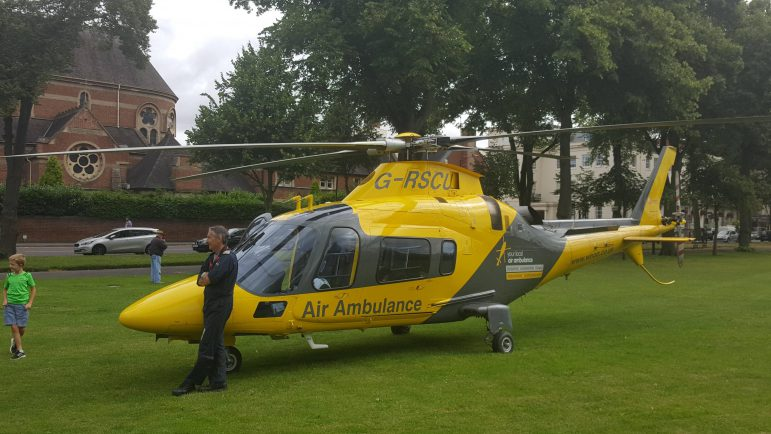 northamptonshire police helicopter with Air Ambulance Touches Leamingtons Pump Room Gardens on Image26 additionally Agusta 109 together with Bell 206 Helicopter also G EMID likewise Helicopter Flights Leicester.