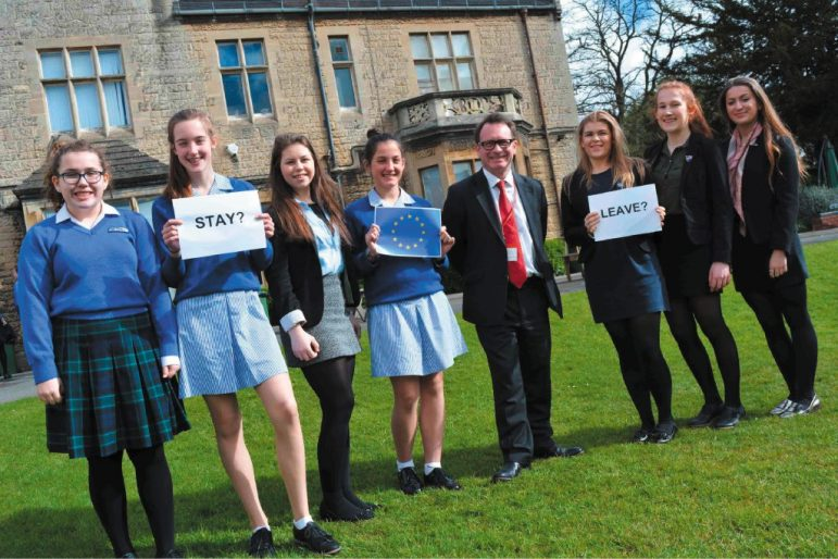 leamington school holds eu referendum debate the