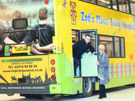 Colourful baby hospice bus takes to the streets in bid to