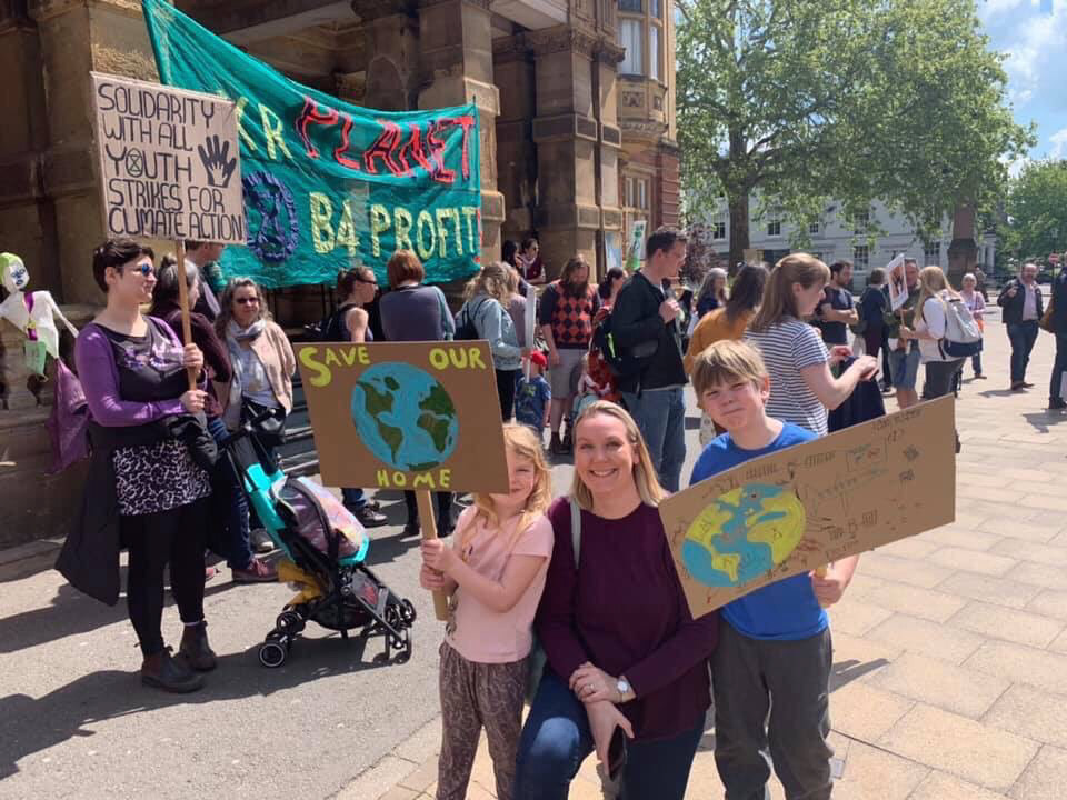 Parents of climate change strikers show support