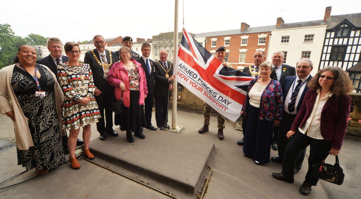 Flag raising ceremony marks start of Armed Forces Week