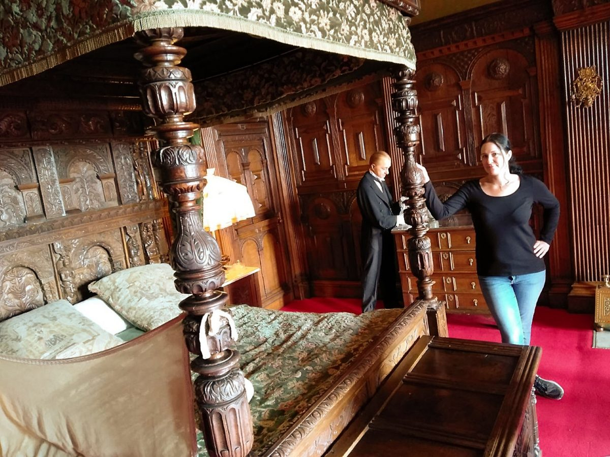 Paranormal investigator researching historic ghostly goings ...