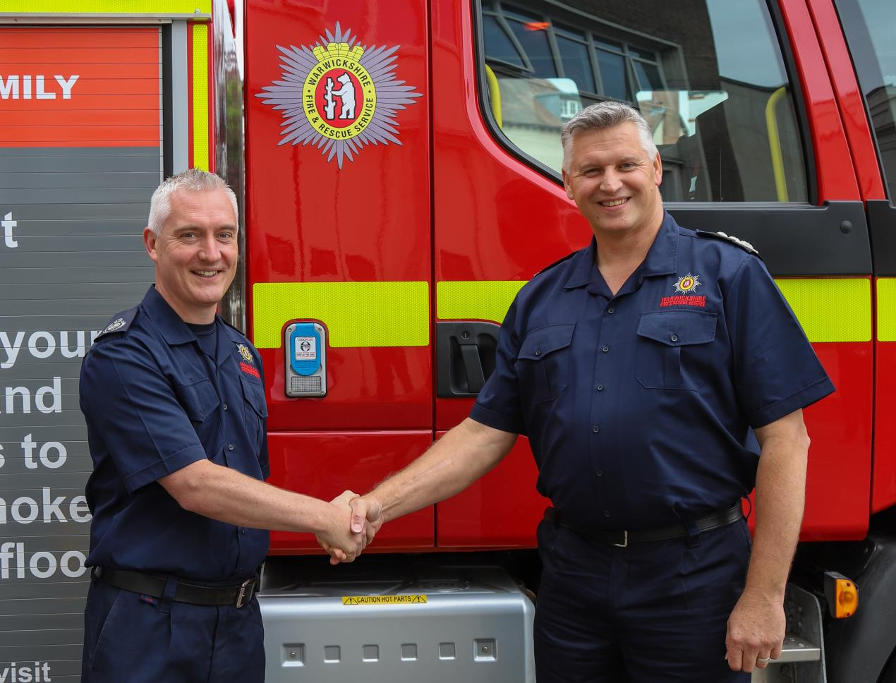 Warwickshire's Chief Fire Officer steps down